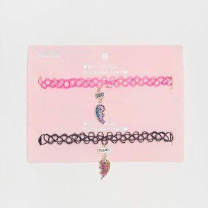 Pink/Black BFF Chokers